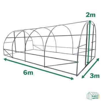 Serre potagère SEMI-PRO d'une surface cultivable de 18m²