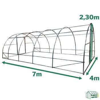 Serre potagère SEMI-PRO d'une surface cultivable de 28m²