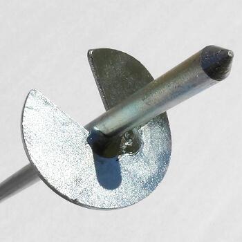 Hélice de 35mm de diamètre d'un piquet d'ancrage solidement soudée pour une bonne accroche au sol