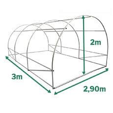 Dimensions serre tunnel potagère