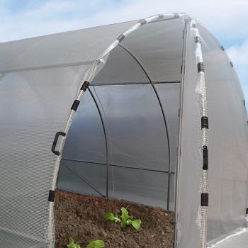 grandes portes pour serre tunnel de jardin