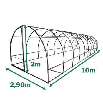 dimension de la serre tunnel 30m2