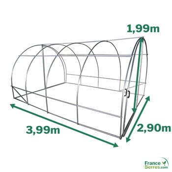 dimension de la serre tunnel 12m2