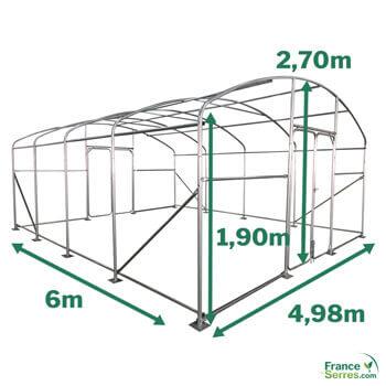 Serre PRO de 30m² - 5m x 6m