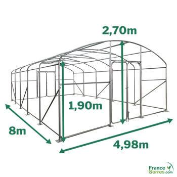 Serre PRO de 40m² - 5m x 8m