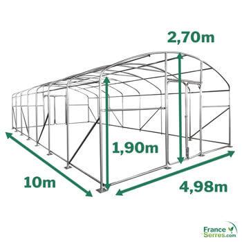 Serre PRO de 50m² - 5m x 10m