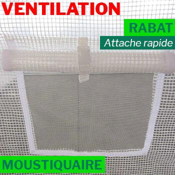 Fenêtre avec rabat et moustiquaire