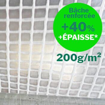 Bache armée translucide en PE 200g anti-déchirure