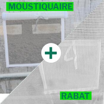 ouverture fenetre avec rabat et moustiquaire