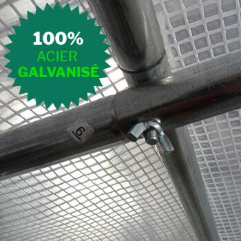 Structure de la serre tonneau en acier galvanisé