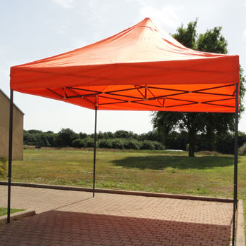 tonnelle de jardin pliante orange