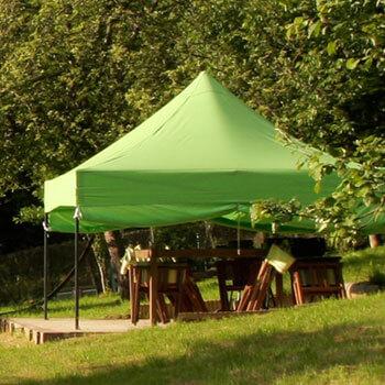 pergola de jardin repliable couleur anis