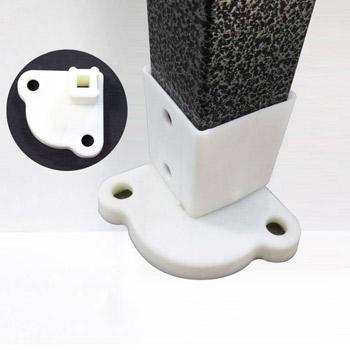 platines de pieds renforcees pour tonnelle ouverture parapluie