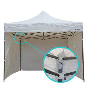 renforts au niveau des angles de la tente de jardin pliable