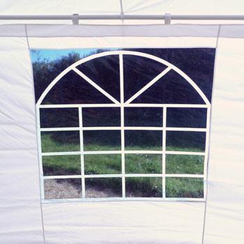 contour incluant 5 faces équipées d'un vitrage cathédrale